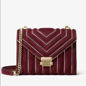 Michael Kors 'Whitney' bag in Oxblood